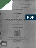 Handbook  for 3 inch Stokes Mortar 1919