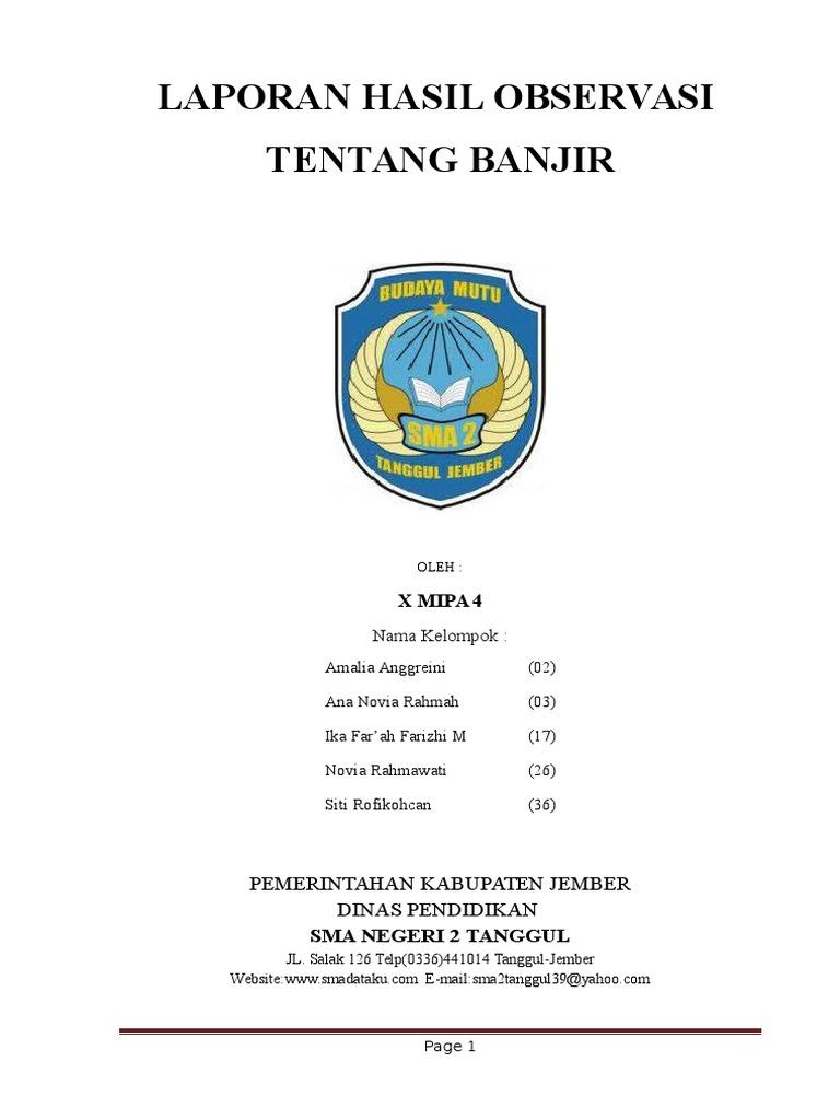 Laporan Hasil Observasi B Indonesia