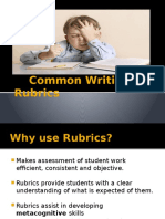 copy of common writing rubrics