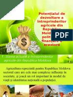 Potențialul de Dezvoltare a Întreprinderilor Agricole Din Republica Moldova Și Politica de Finanțare a Acestora