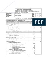 Criterios de Evaluación Factoria Industrial