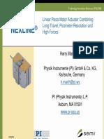 PI White Paper Nexline Linear Piezo Motor TIS c