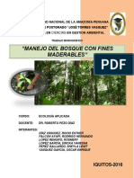 Manejo de Bosques Con Fines Maderables