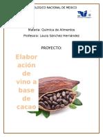 Proyecto Cacao Quimica de Alimentos