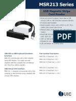 Đầu đọc thẻ từ MSR213