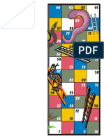 Game Board Snakes and Ladders Half2 Letter