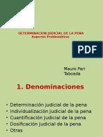 Determinacion Judicial de La Pena 01 Mauro Pari Taboada
