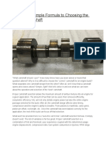 Choosing the Perfect Performance Camshaft