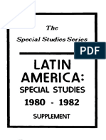 LATIN America-Special Studies