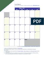 Calendario Mayo 2017
