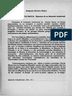 B. Sánchez. Esquema de Su Intinerario Intelectual