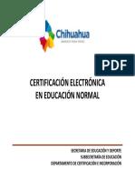 Certificacion Electronica Educacion Normal