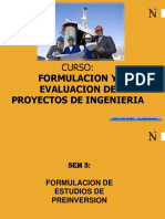 Estudios de Preinversion