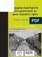 Chenwi and Tissington - Engaging Meaningfully With Government on Socio-economic Rights