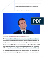 Financial Times - Emmanuel Macron's Rothschild Years Make Him an Easy Election Target