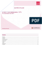 As-AL SOW 9709 01 PureMathematics1 P1