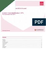 As-AL SOW 9709 01 PureMathematics1 P1