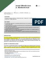 Dor Abdominal (Artigo)