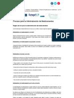 Proceso Para La Administración de Medicamentos, Revista de Enfermería