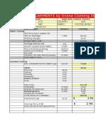 Garment Sample Costing Sheet