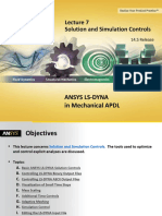 ANSYS LS-DYNA MAPDL 14.5 L07 Solution and Simulation Controls