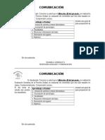 Comunicación Evaluacion 3°
