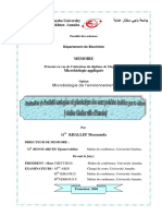 Evalutation de l'Activité Mutagène Et Génotoxique Des Eaux Potables Traitées Par Le Chlore (Station de Chaiba)_KHALLEF-Messaouda