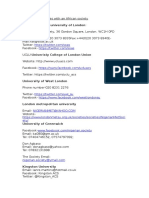 london univiersities with an african society