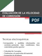 Evaluación de la velocidad de corrosión