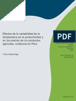 B - Efectos de La Variabilidad de La Temperatura en La Productividad y en Los Precios de Los Productos Agrícolas