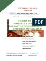 Informe de Circuitos Monofasicos
