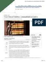 Caso MercaCórdoba y criminalidad asociativa. Jorge Vila Lozano.