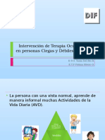 Intervención de Terapia Ocupacional en Personas Ciegas y