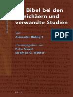 [NHMS 080] Nagel, Richter [Eds.] Die Bibel bei den Manichaern und verwandte Studien von A. Bohlig.pdf