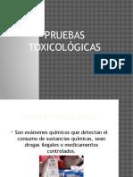 pruebas toxicológicas