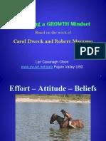nurturing a growth mindset
