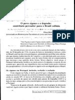 O Povo Cigano e o Degredo Contributo Povoador Para o Brasil Colônia - Elisa Maria Lopes Da Costa
