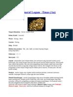 Deskripsi Mineral Emas