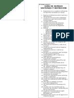 Guía Resumen Sistemas y Nutrición 8º