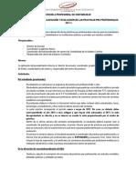 Procedimiento de Práctica Profesional 2017-I