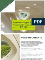 Presentación Corporativa Cementos Argos_ Mayo 2016