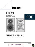 Mackie HR824 Service Manual