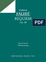 Faure - Requiem Vocal Score