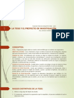 01_La Tesis y El Proyecto de Investigación