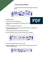 Grade 6 Misc Questions