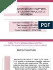 Akuntansi Untuk Entitas Partai Politik