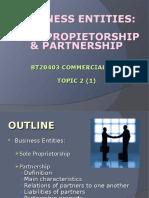 Topic2_1 Sole Proprietorship and Partnership 2017