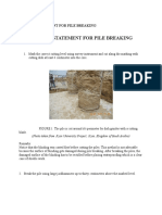 Method Statement for Pile Breaking