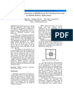 Modeling and Simulation of MEMS Based 3D Vibrating Gyroscope