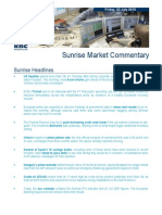 JUL 23 KBC Sunrise Mkt Commentary